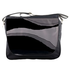 Black and gray design Messenger Bags
