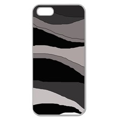 Black and gray design Apple Seamless iPhone 5 Case (Clear)