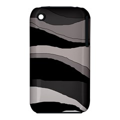 Black and gray design Apple iPhone 3G/3GS Hardshell Case (PC+Silicone)