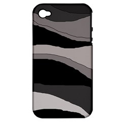 Black and gray design Apple iPhone 4/4S Hardshell Case (PC+Silicone)