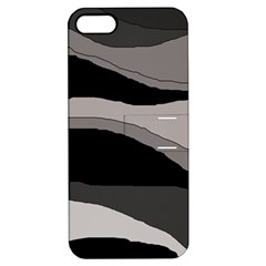 Black and gray design Apple iPhone 5 Hardshell Case with Stand