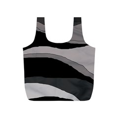Black and gray design Full Print Recycle Bags (S)