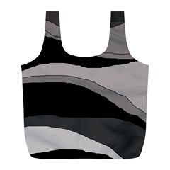 Black and gray design Full Print Recycle Bags (L)