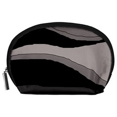 Black and gray design Accessory Pouches (Large)