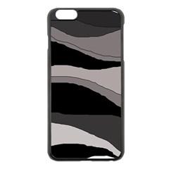 Black and gray design Apple iPhone 6 Plus/6S Plus Black Enamel Case
