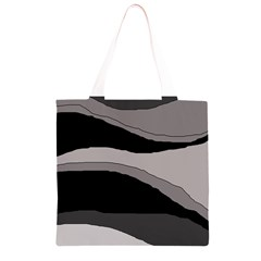 Black and gray design Grocery Light Tote Bag