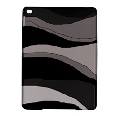 Black and gray design iPad Air 2 Hardshell Cases