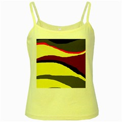 Decorative abstract design Yellow Spaghetti Tank