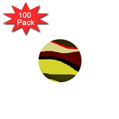 Decorative abstract design 1  Mini Buttons (100 pack)