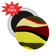 Decorative abstract design 2.25  Magnets (10 pack)