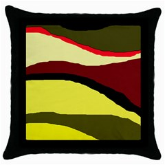 Decorative abstract design Throw Pillow Case (Black)