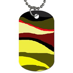 Decorative abstract design Dog Tag (One Side)