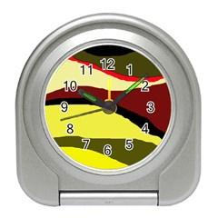 Decorative abstract design Travel Alarm Clocks