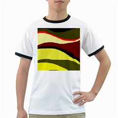 Decorative abstract design Ringer T-Shirts