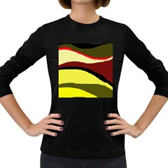 Decorative abstract design Women s Long Sleeve Dark T-Shirts
