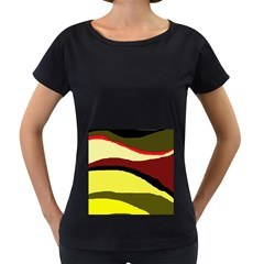 Decorative abstract design Women s Loose-Fit T-Shirt (Black)
