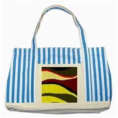 Decorative abstract design Striped Blue Tote Bag