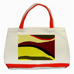 Decorative abstract design Classic Tote Bag (Red)