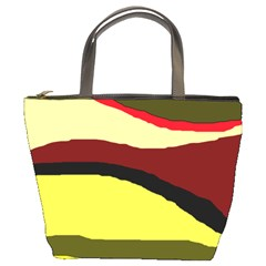 Decorative abstract design Bucket Bags