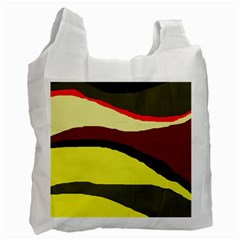 Decorative abstract design Recycle Bag (One Side)
