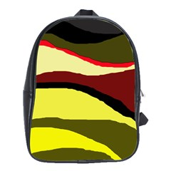 Decorative abstract design School Bags(Large)