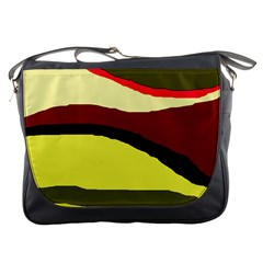 Decorative abstract design Messenger Bags