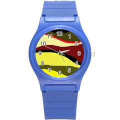 Decorative abstract design Round Plastic Sport Watch (S)