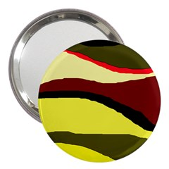 Decorative abstract design 3  Handbag Mirrors