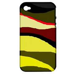 Decorative abstract design Apple iPhone 4/4S Hardshell Case (PC+Silicone)