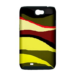 Decorative abstract design Samsung Galaxy Note 2 Hardshell Case (PC+Silicone)