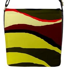 Decorative abstract design Flap Messenger Bag (S)