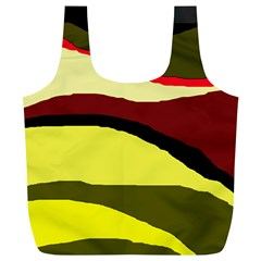 Decorative abstract design Full Print Recycle Bags (L)