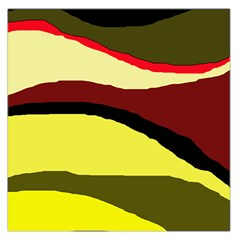 Decorative abstract design Large Satin Scarf (Square)