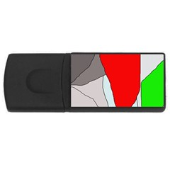 Colorful abstraction USB Flash Drive Rectangular (1 GB)
