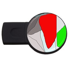 Colorful abstraction USB Flash Drive Round (4 GB)