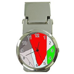 Colorful abstraction Money Clip Watches