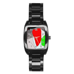 Colorful abstraction Stainless Steel Barrel Watch