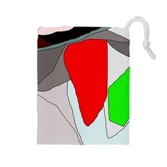 Colorful abstraction Drawstring Pouches (Large)