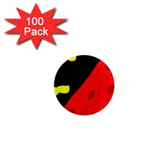 Red Abstraction 1  Mini Magnets (100 Pack)