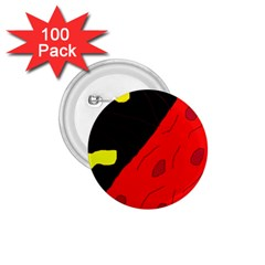 Red abstraction 1.75  Buttons (100 pack)