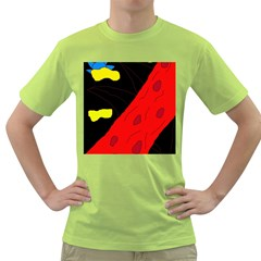 Red abstraction Green T-Shirt