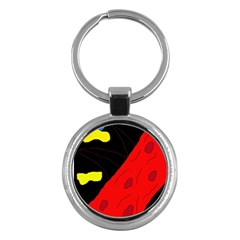 Red abstraction Key Chains (Round)
