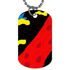 Red Abstraction Dog Tag (two Sides)