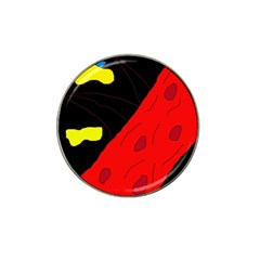 Red abstraction Hat Clip Ball Marker (10 pack)