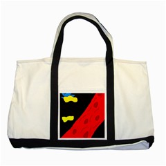 Red abstraction Two Tone Tote Bag
