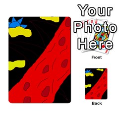Red abstraction Multi-purpose Cards (Rectangle)