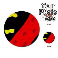 Red Abstraction Multi Purpose Cards (round)