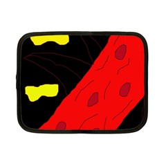 Red abstraction Netbook Case (Small)