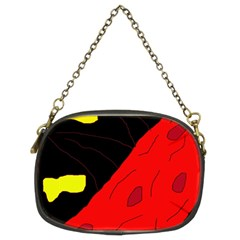 Red abstraction Chain Purses (Two Sides)