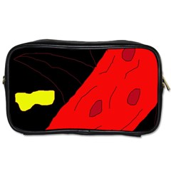 Red abstraction Toiletries Bags